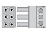 Spacelabs ECG Lead Set - 3 Leads Tru-Link Style 35in Clip