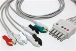 Spacelabs ECG Lead Set - 5 Leads Tru-Link Style 35in Clip