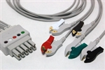 Datex-Ohmeda Pro1001 Compatible ECG Lead Set 8001958 - 5 Leads AHA ASP Style 35in Clip