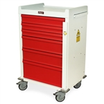 MR Compatible, Six Drawer, Emergency Cart, Breakaway Lock