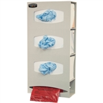 Bowman Triple Glove & Single Roll Bag Dispenser