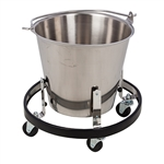 Clinton Stainless Steel Kick Bucket & Frame