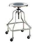 UMF Stainless Steel Revolving Stool w/ Ring Footrest and No Back