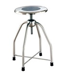 UMF Stainless Steel Revolving Stool with Cross Brace