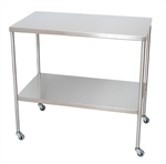UMF Stainless Steel Instrument Tables with Shelf, 20'x36'