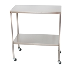 UMF Stainless Steel Instrument Table with Shelf, 18'x33'