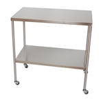 UMF Stainless Steel Instrument Tables with Shelf, 20'x48'