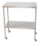 UMF Stainless Steel Instrument Table with Shelf, 16'x30'