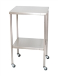 UMF Stainless Steel Instrument Table with Shelf, 16'x20'
