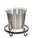 UMF Stainless Steel Stands, Kick Bucket, 13 qt.