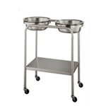 UMF Stainless Steel Twin Basin Stand with Shelf