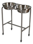 UMF Stainless Steel Twin Basin Stand with H-brace