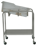 UMF Stainless Steel Bassinet - 1 Shelf, 32'W x 35.25'H x 17'D