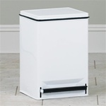 Clinton 32 Quart Waste Can, White