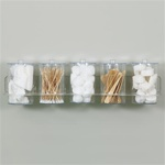 Clinton Clear Acrylic Wall Mount Jar Rack