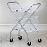 Chrome Folding Cart Frame