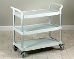 Clinton Premium Beige Plastic Utility Cart