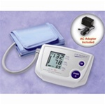 AnD LifeSource Digital Blood Pressure Monitors with MEDIUM Cuff, One Step Plus Memory w/AC Adapter