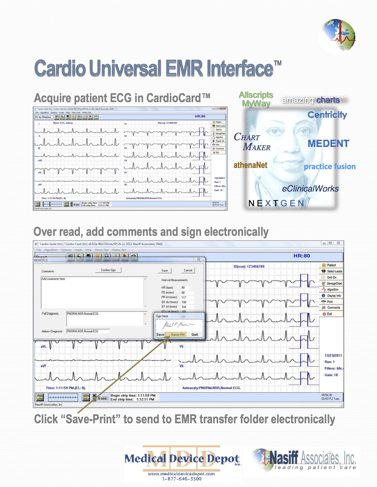 Cardio Universal EMR Interface