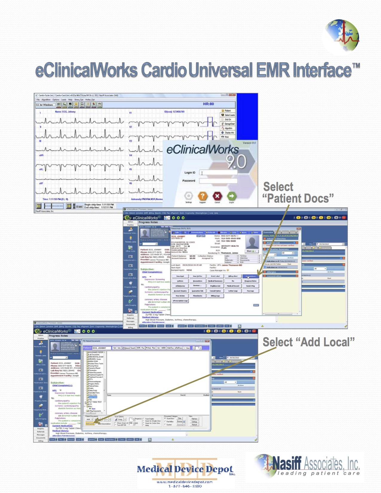 CardioCard Holter and ECG that are EMR Compatible